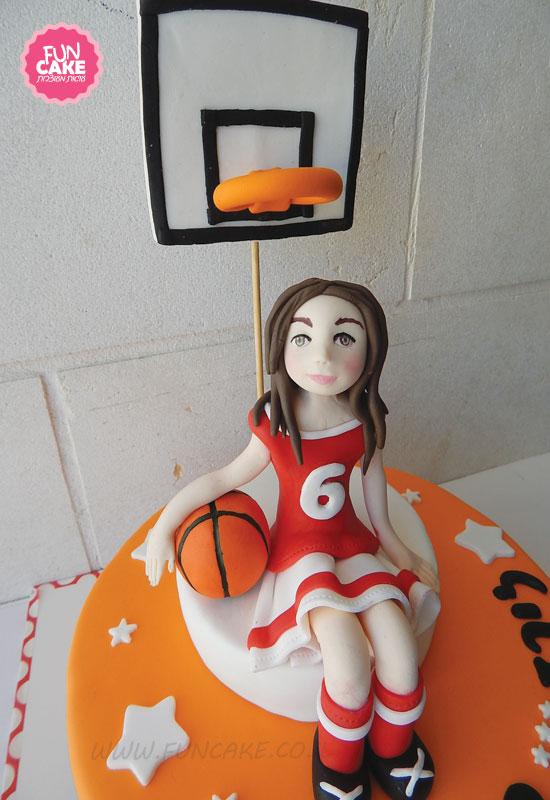 עוגת כדורסל בנות