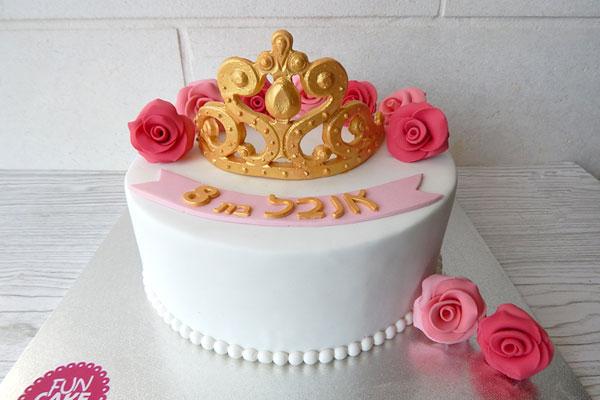 עוגת כת נסיכות ורדים