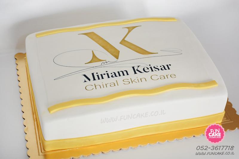 עוגת לוגו מרים קיסר