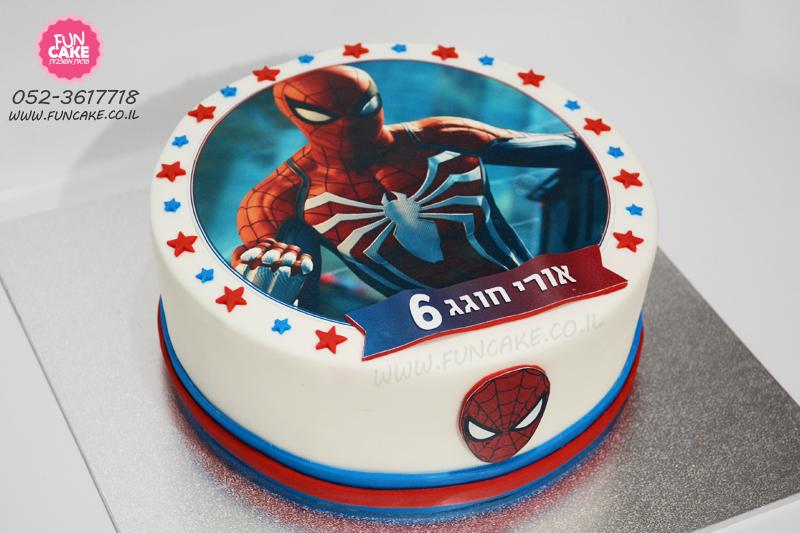 עוגת-ספיידרמן-דף-אכיל