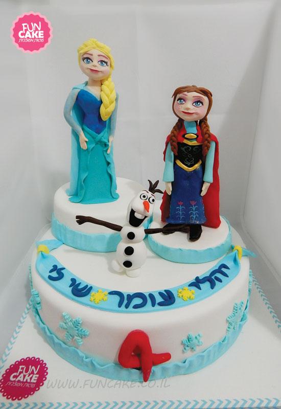 עוגת אנה אלזה ואולף