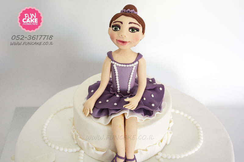 עוגת בלרינה בסגנון הנסיכה סופיה