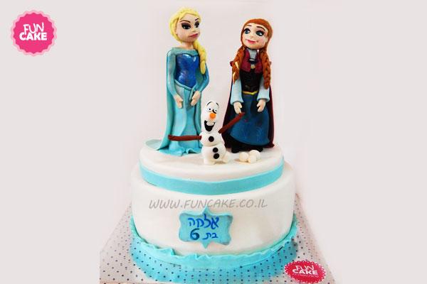 עוגת אלזה אנה ואולף