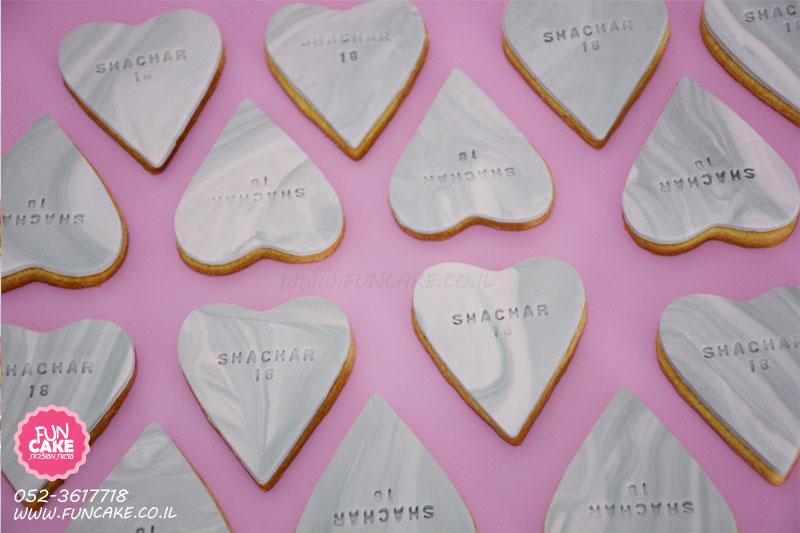 עוגיות לב מעוצבות