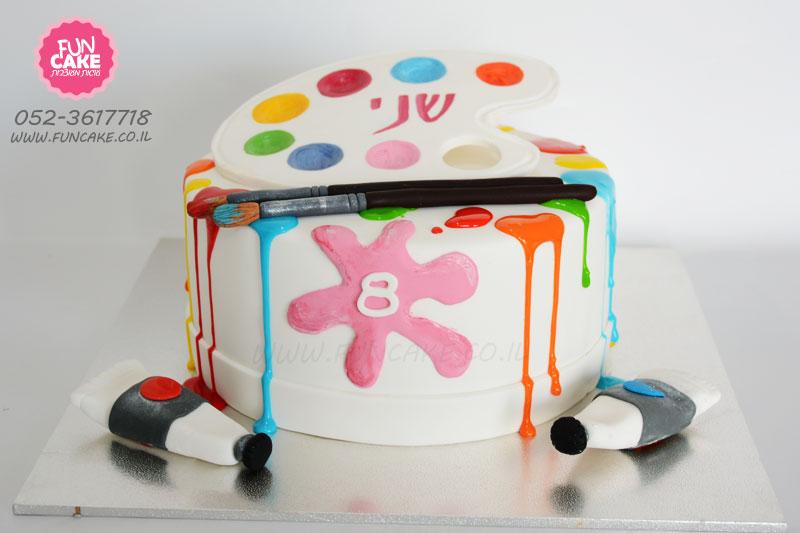 עוגה-לילדה-שאוהבת-לצייר