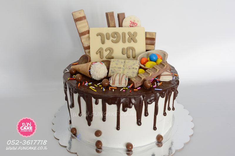 עוגת-טפטופים שוקולדים