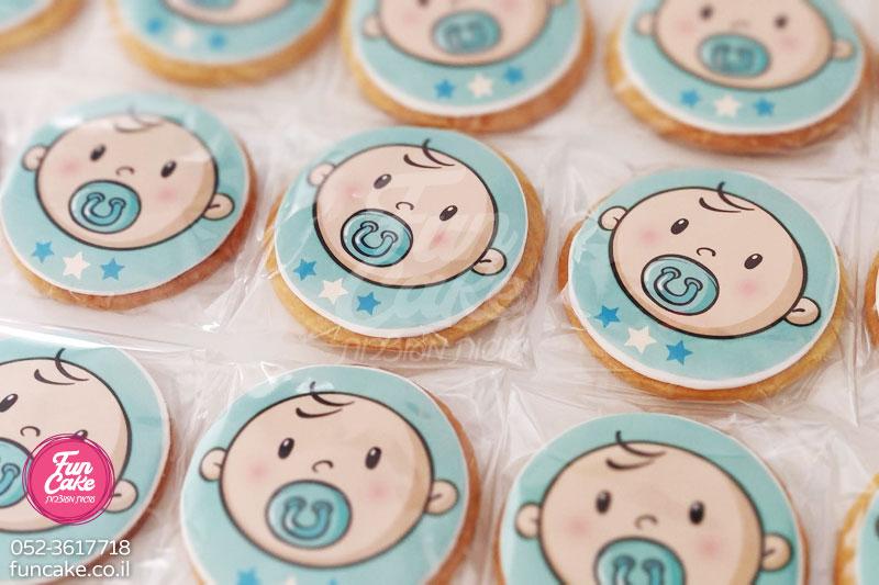 עוגיות מעוצבות להולדת בן